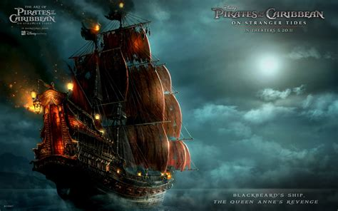 blackbeards ship  pirates   caribbean  wallpapers