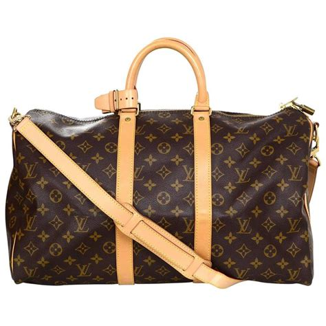 louis vuitton monogram keepall  duffle weekender bag