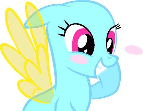 Mlp Pegasus Base- Blushing By Poodlette On Deviantart