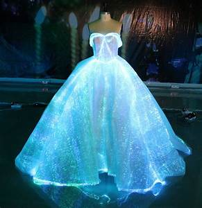 fiber optic wedding dress rgb led light up wedding gown With light wedding dress