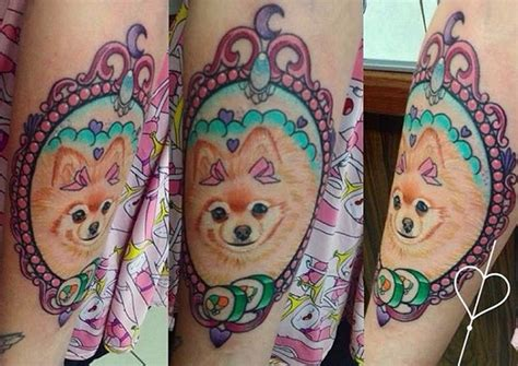 coolest pomeranian tattoo designs   world