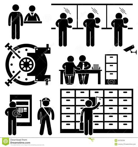 bank business finance worker pictogram stock vector