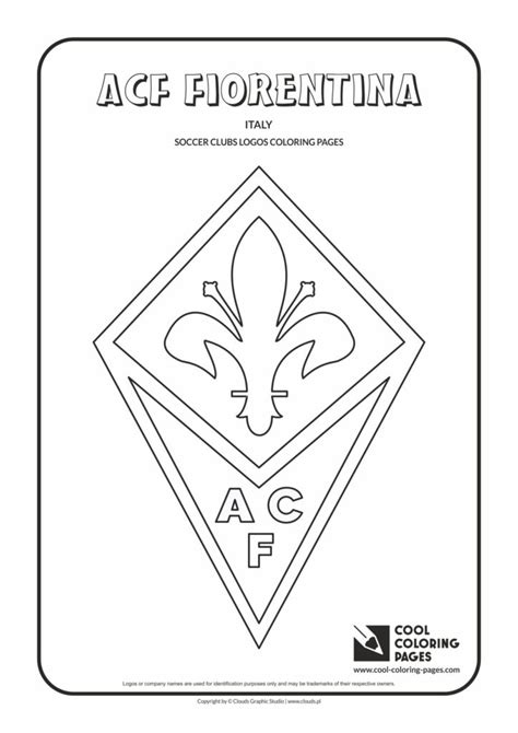 cool coloring pages acf fiorentina logo coloring page cool coloring pages  educational