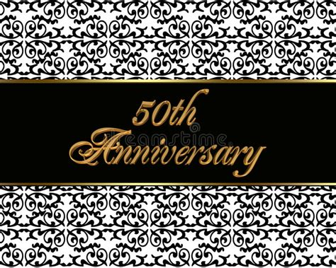50th Anniversary Invitation Card Royalty Free Stock