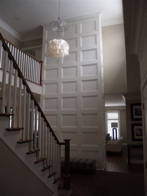 feature wall coffered ceiling traditional hall