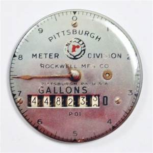 Pittsburgh Meter Division Steampunk Gauge FRIDGE MAGNET