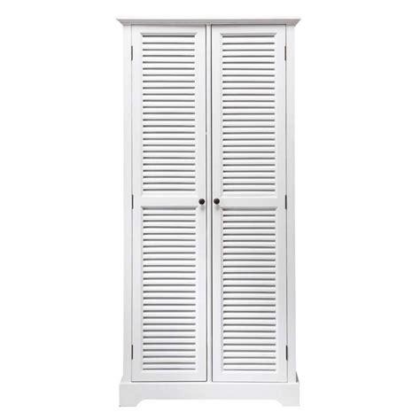 guardaroba maison du monde dressing en bois blanc l 86 cm barbade maisons du monde
