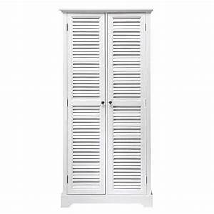 Dressing Maison Du Monde : dressing en bois blanc l 86 cm barbade maisons du monde ~ Nature-et-papiers.com Idées de Décoration