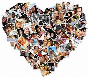 Original thoughtful touching valentines day idea shape collage blog for Photoshop collage ideas