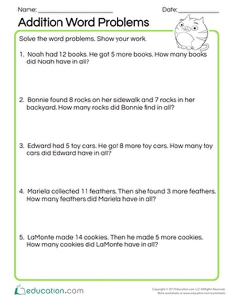 st patrick s day word problems coloring addition