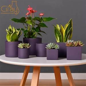 China, Home, Decoration, Wholesale, Popular, Purple, Cement, Planters, Concrete, Flower, Pots
