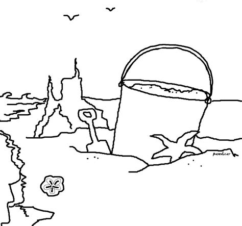 Coloring Sand by At The Shore Coloring Page Seashells By Millhill