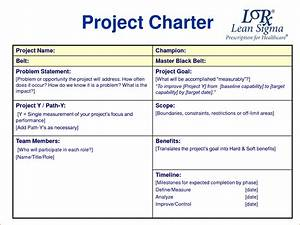 amazing six sigma charter template pictures inspiration With program charter template