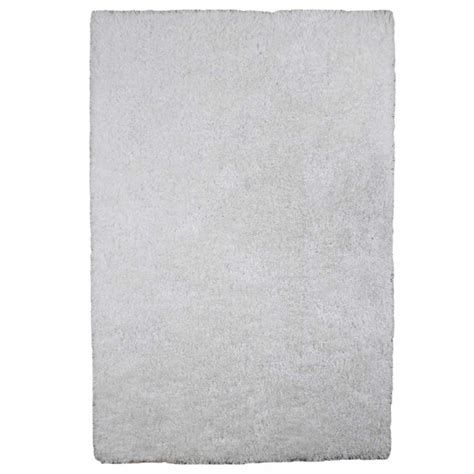 tapis  longues meches blanc doux