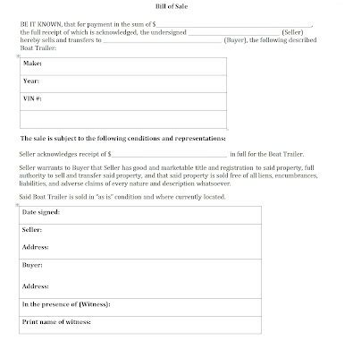 Boat Bill Of Sale With Witness by General Bill Of Sale Template Sle