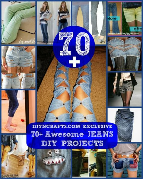 awesome jeans diy projects refashioning slimming