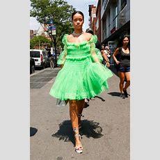 Rihanna Puts The Spotlight On 27yearold British Designer Molly Goddard Wearing Her £1,250 Prom
