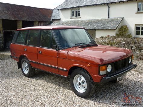 red land rover old 1984 range rover classic superb