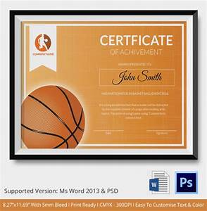 Award certificate template 15 free word pdf psd format download free premium templates for Basketball certificate ideas