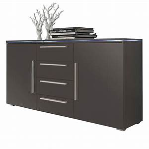 Waschmaschinenschrank Mit Türen : stripe sideboard grau hochglanz mit 2 t ren und 4 schubk sten ~ Eleganceandgraceweddings.com Haus und Dekorationen