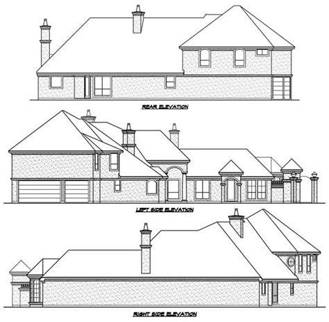 shaped luxury home plan tx st floor master suite cad  corner lot den