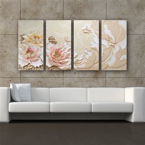 Pictures For Wall Decor by Handmade And Sculpture 3d Wall Painting Designs