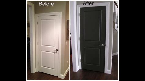 painting interior doors black youtube