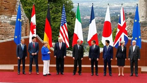 The group of seven (g7) is an intergovernmental organization consisting of canada, france, germany, italy, japan, the united kingdom and the united states. Deep divisions at G7: Trump, world leaders likely to clash over trade and climate   world-news ...