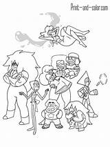 Steven Universe Coloring Pages Printable Characters Cartoon Print Sheets Adult Colouring Gems Crystal Steve Peridot Lapis Garnet Pearl Ruby Sapphire sketch template