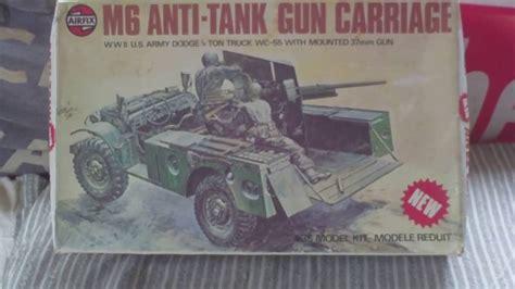 Review,vintage 1975 Airfix M6 Anti Tank Gun Carriage 135