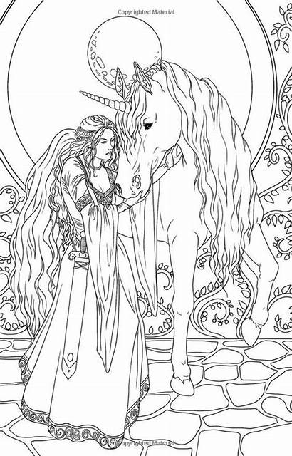 Coloring Pages Adult Fantasy Stress Sheets Books