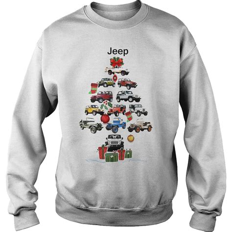 jeep christmas shirt jeep christmas tree sweater hoodie longsleeve t shirt