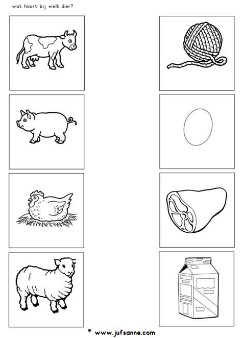 wat hoort bij welk dier jufsanne farm animals