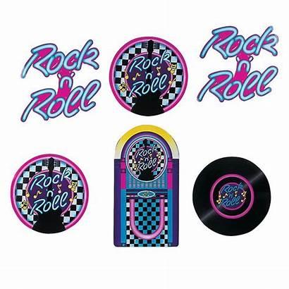 Rock Roll Cutouts Sock Hop Decorations Party