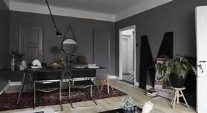 Wandfarbe Grau Wohnzimmer Streichen Ideen FresHouse