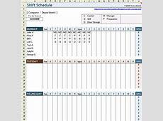 Shift Handover Template Excel calendar monthly printable