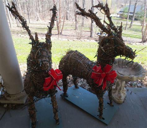 wicker reindeer christmas decorations wwwindiepediaorg