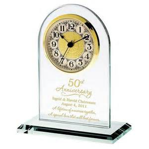 50th wedding anniversary favors 50th anniversary personalized glass clock