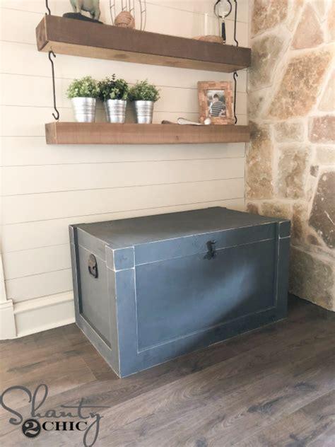 diy modern farmhouse trunk diy furniture plans