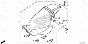 Honda Motorcycle 2015 Oem Parts Diagram For Seat  Vt750c2b