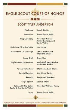 eagle scout court  honor invitations  program