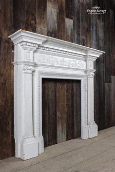 edwardian ornate double pillar pine surround