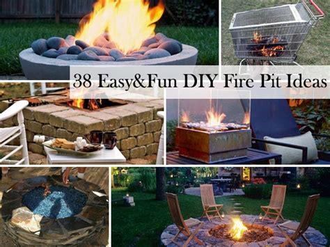 easy  fun diy fire pit ideas