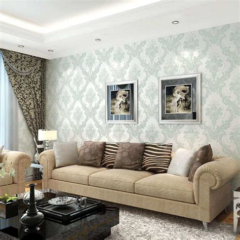 Living Room Wallpaper Grey Walls by 48 Qualified Wallpaper And Paint Ideas Living Room Ub