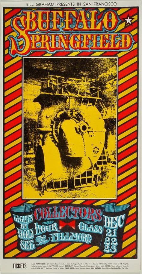 buffalo springfield vintage concert poster  fillmore