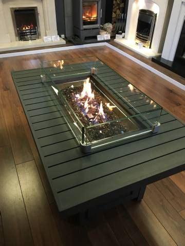 napoleon hamptons rectangle outdoor fire table stoke