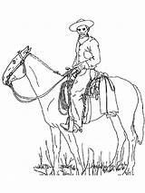 Cowboy Coloring Pages Boys Adults Printable Cowboys Horse Colors Hat Realistic Template Recommended sketch template