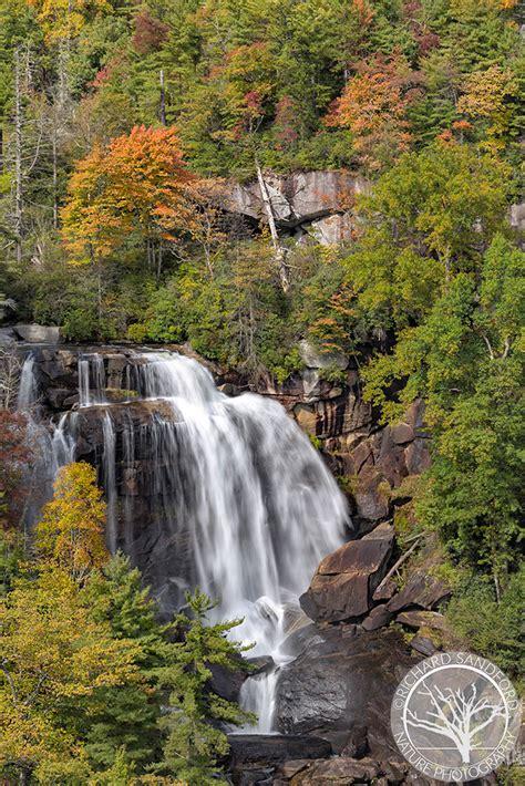 Whitewater Falls Fall Foliage  Fine Art Nature Photography
