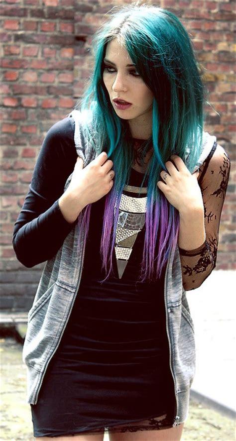 Turquoise To Purple Hair Hair Pinterest Blue Purple