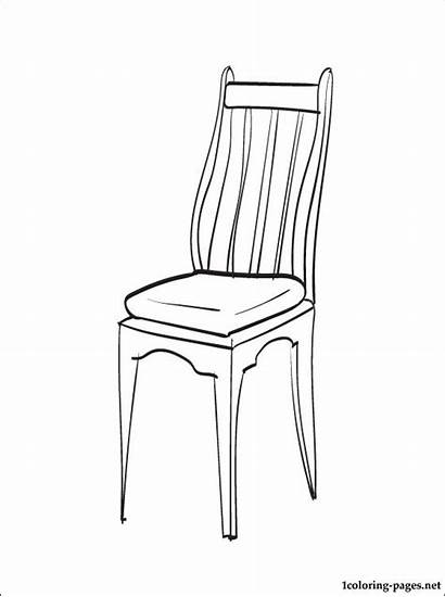 Chair Coloring Pages Furniture Printable Parents Pieces